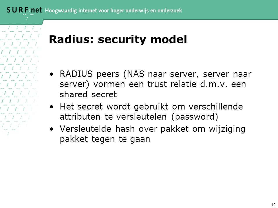 Radius: security model