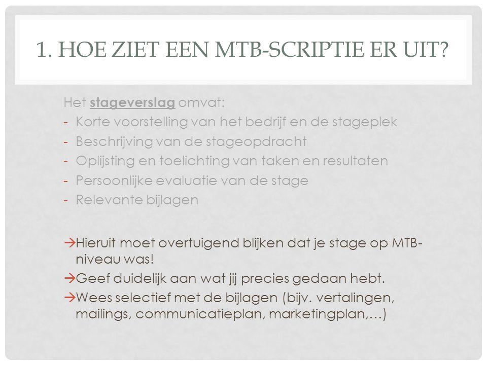 hoe ziet een stageverslag eruit DE SCRIPTIE MTB, ppt download