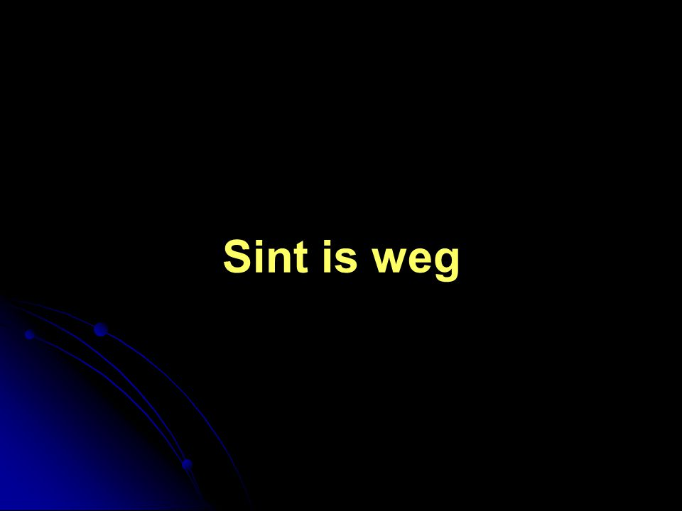 Sint is weg