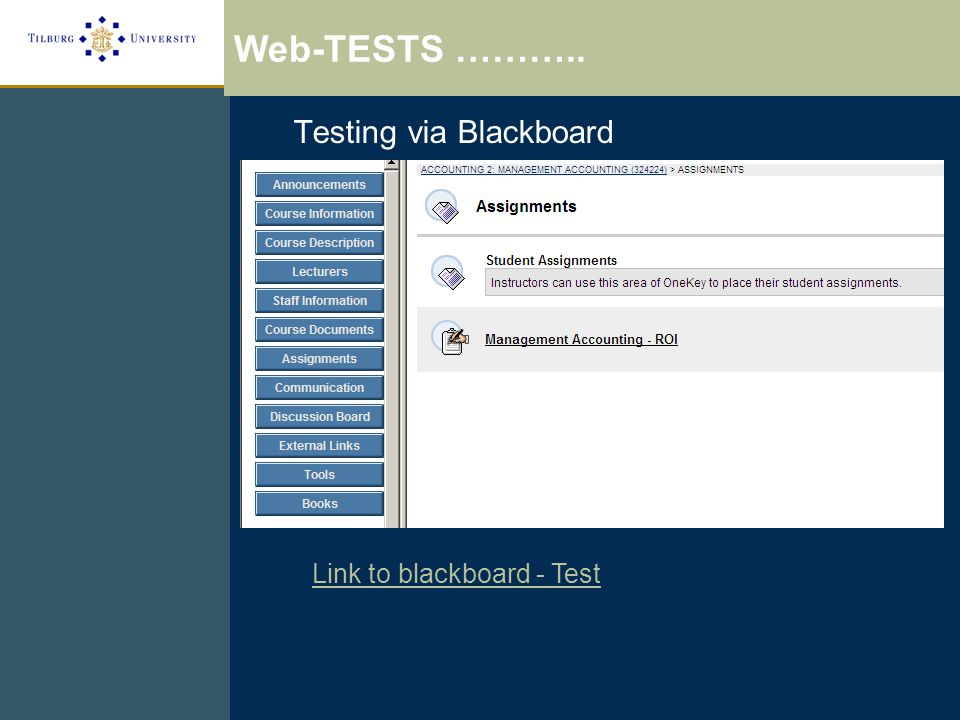 Link to blackboard - Test