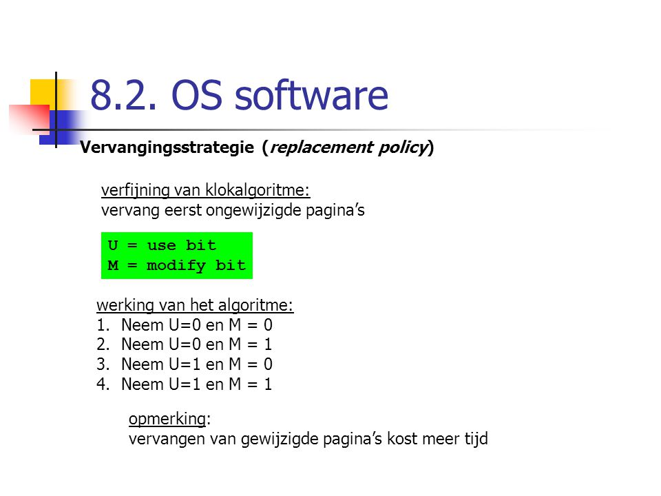 8.2. OS software Vervangingsstrategie (replacement policy)