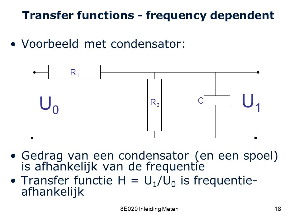 Transfer functions - frequency dependent