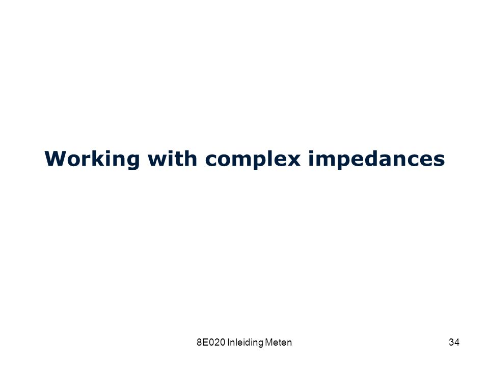 Working with complex impedances