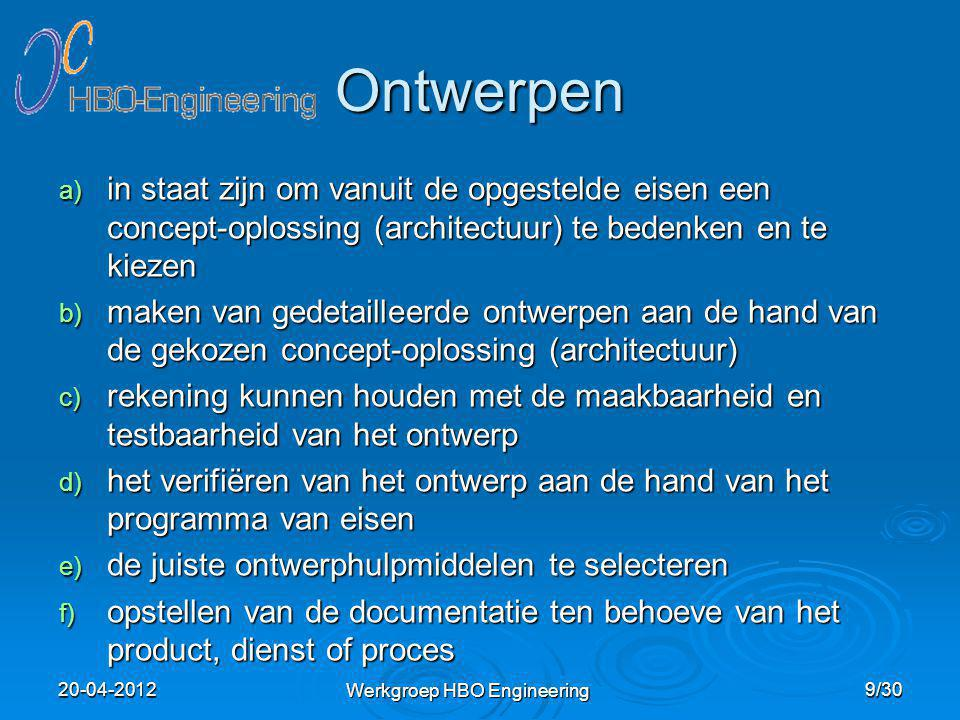 Werkgroep HBO Engineering