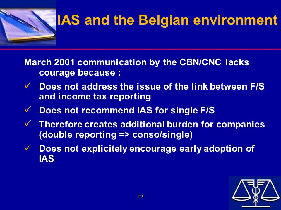 IAS and the Belgian environment