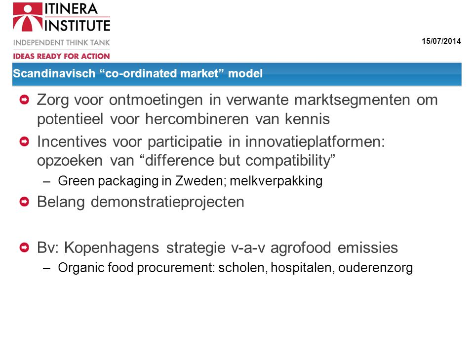 Scandinavisch co-ordinated market model
