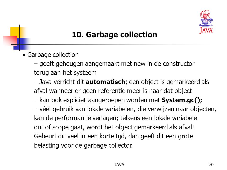 10. Garbage collection Garbage collection