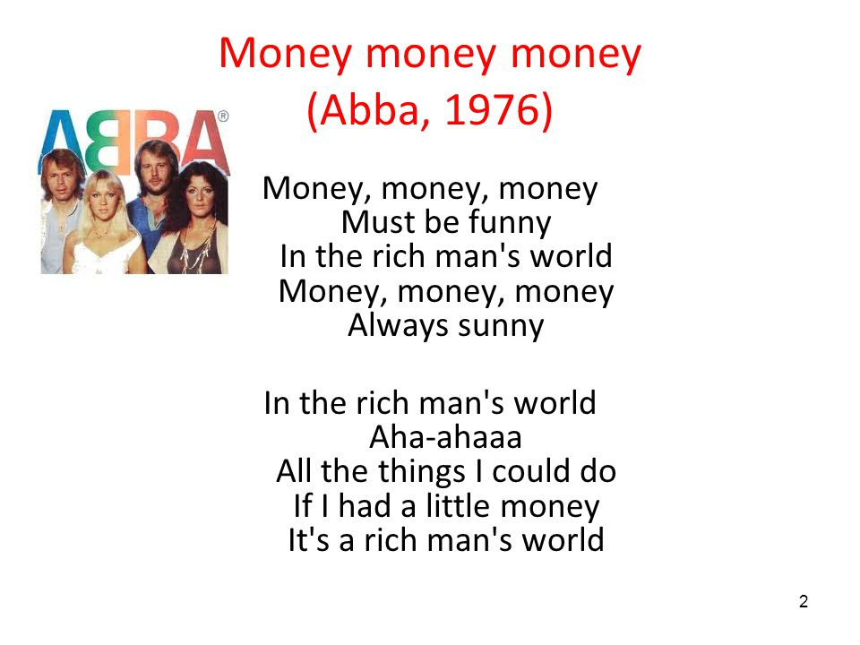 Money money money (Abba, 1976)