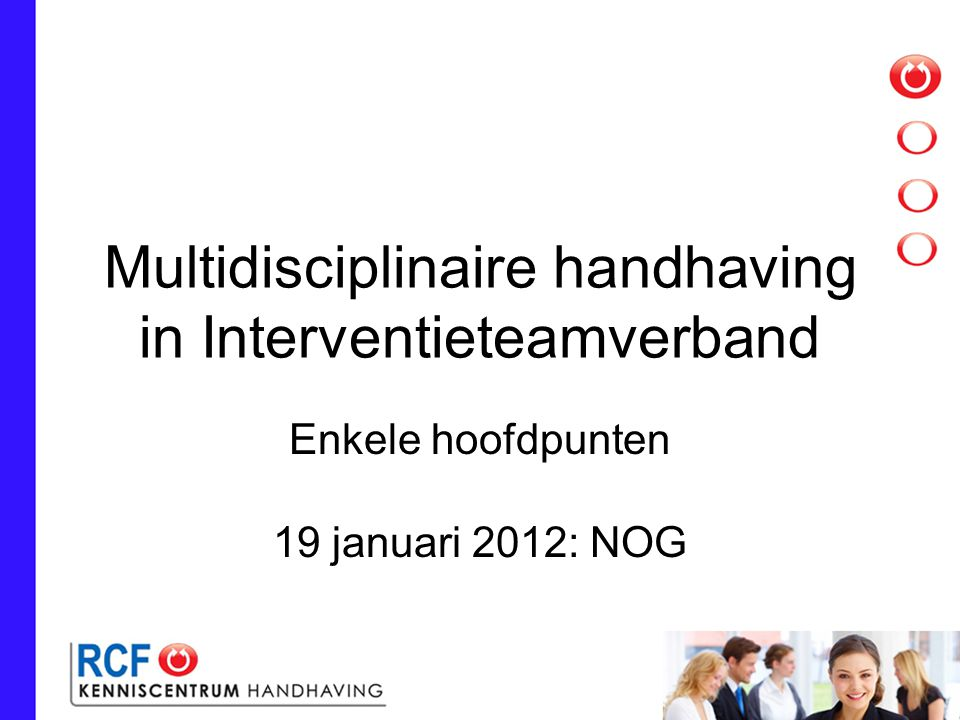 Multidisciplinaire handhaving in Interventieteamverband