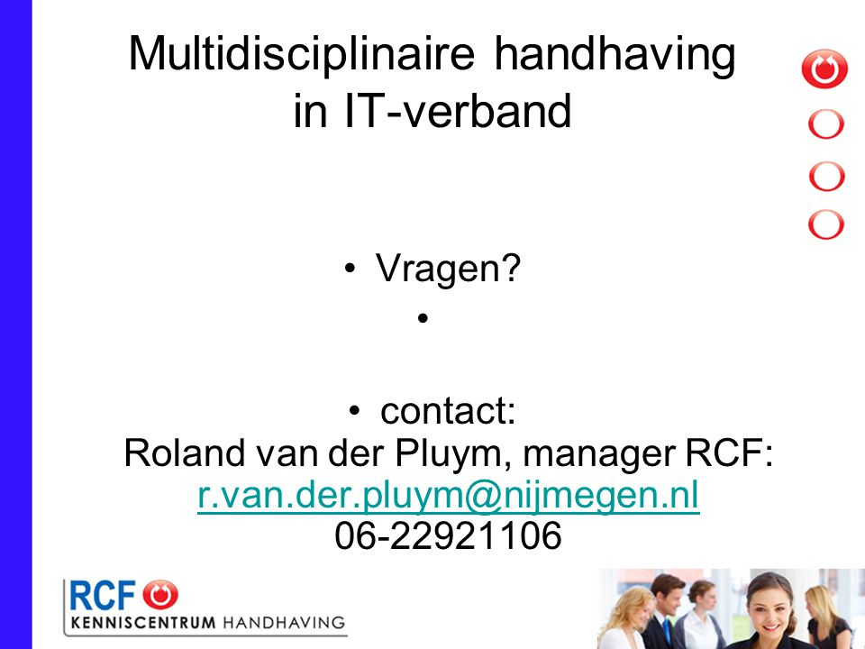 Multidisciplinaire handhaving in IT-verband