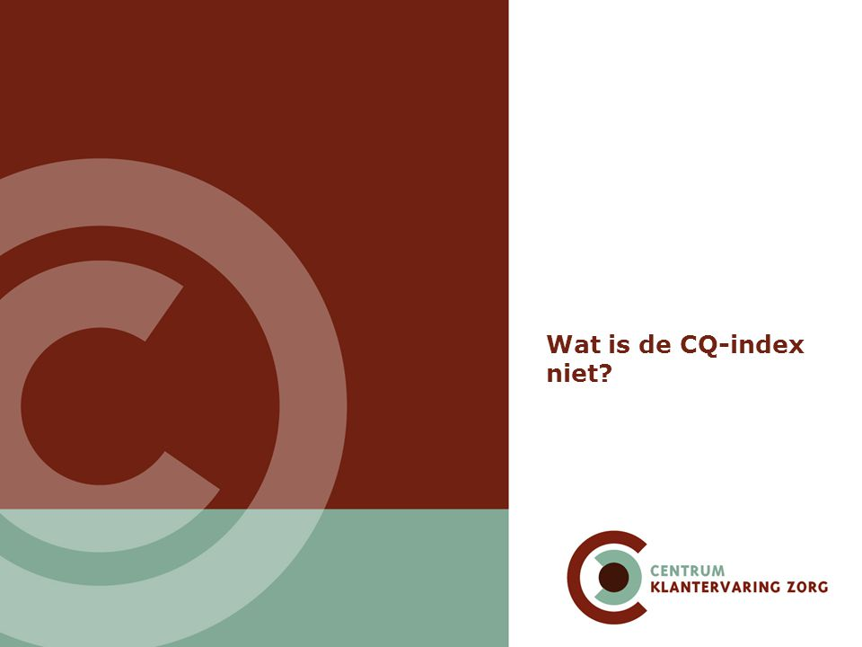 Wat is de CQ-index niet
