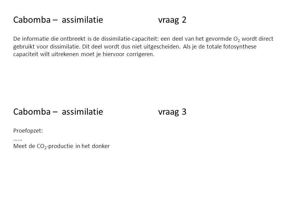 Cabomba – assimilatie vraag 2