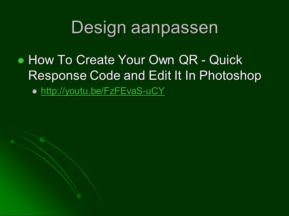Design aanpassen How To Create Your Own QR - Quick Response Code and Edit It In Photoshop.