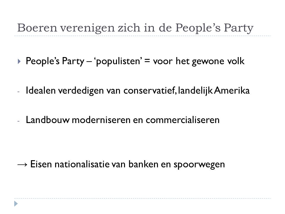 Boeren verenigen zich in de People's Party