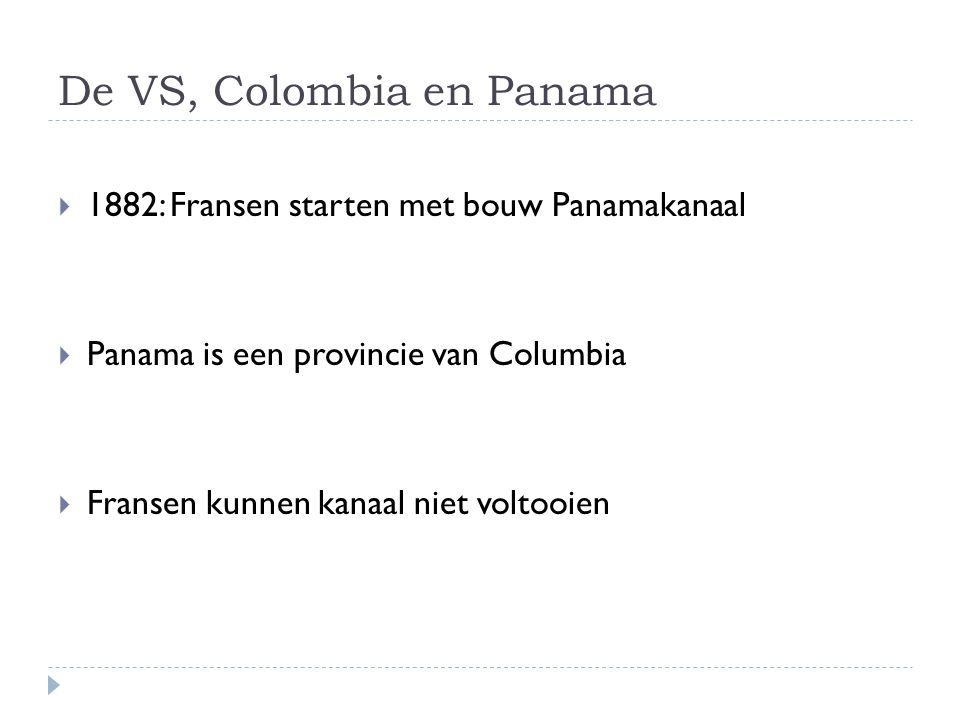 De VS, Colombia en Panama