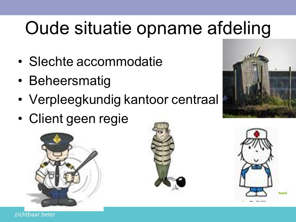 Oude situatie opname afdeling