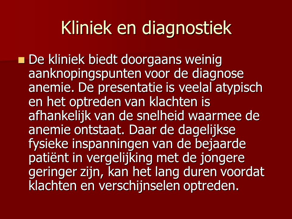 Kliniek en diagnostiek