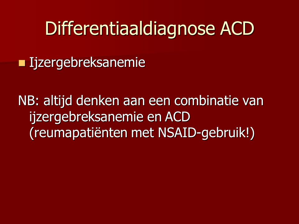 Differentiaaldiagnose ACD