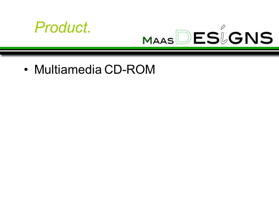 Product. Multiamedia CD-ROM