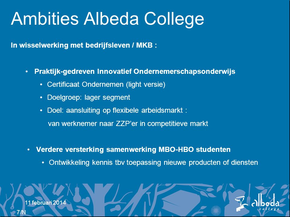 Ambities Albeda College