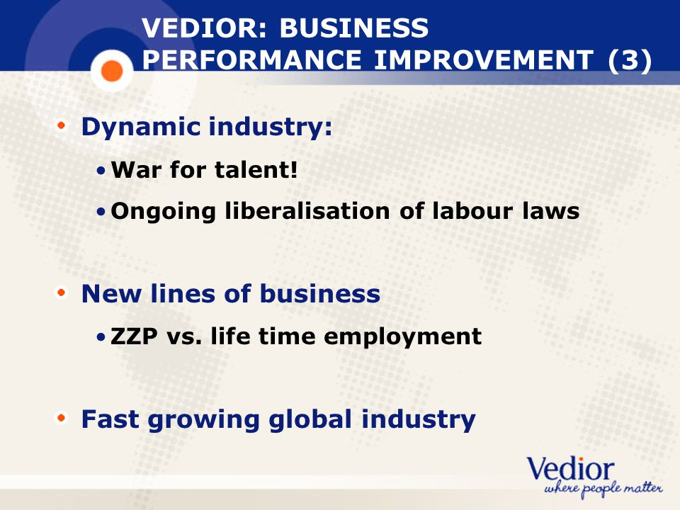 VEDIOR: BUSINESS PERFORMANCE IMPROVEMENT (3)