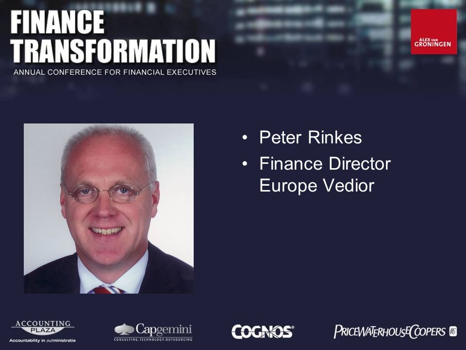 Peter Rinkes Finance Director Europe Vedior