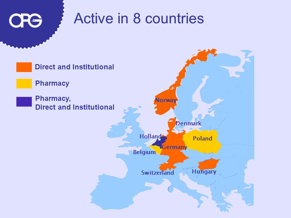Active in 8 countries Direct and Institutional Pharmacy