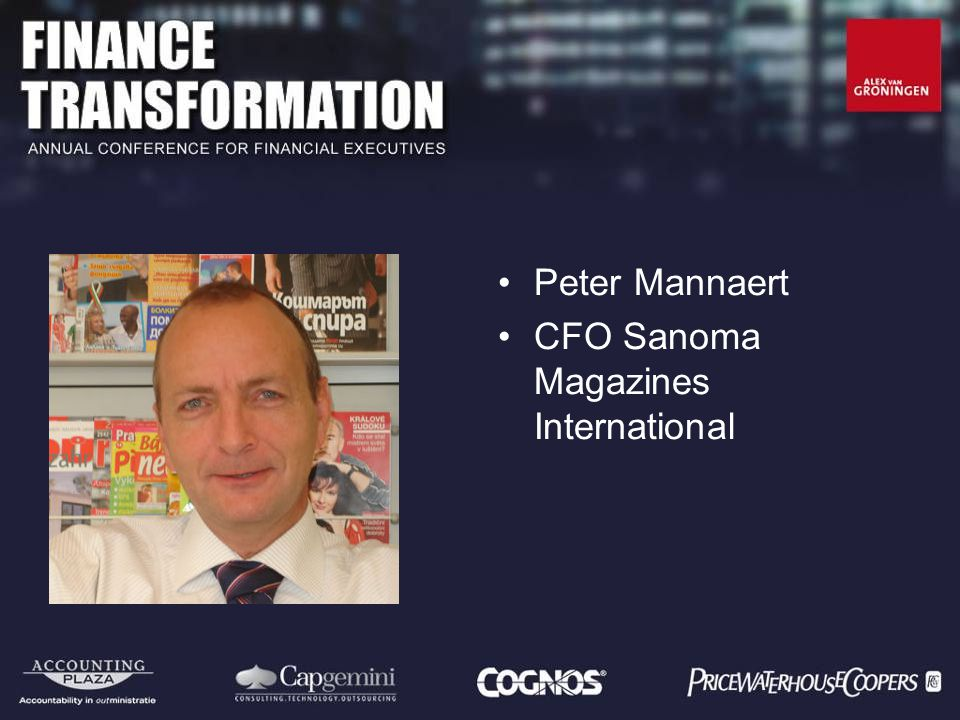 Peter Mannaert CFO Sanoma Magazines International