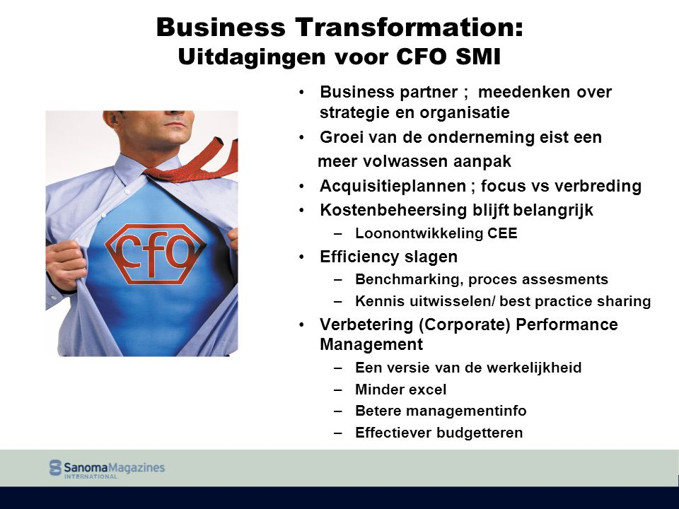 Business Transformation: Uitdagingen voor CFO SMI