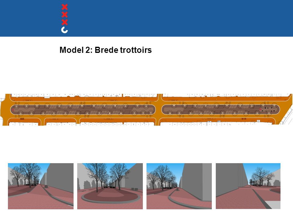Model 2: Brede trottoirs
