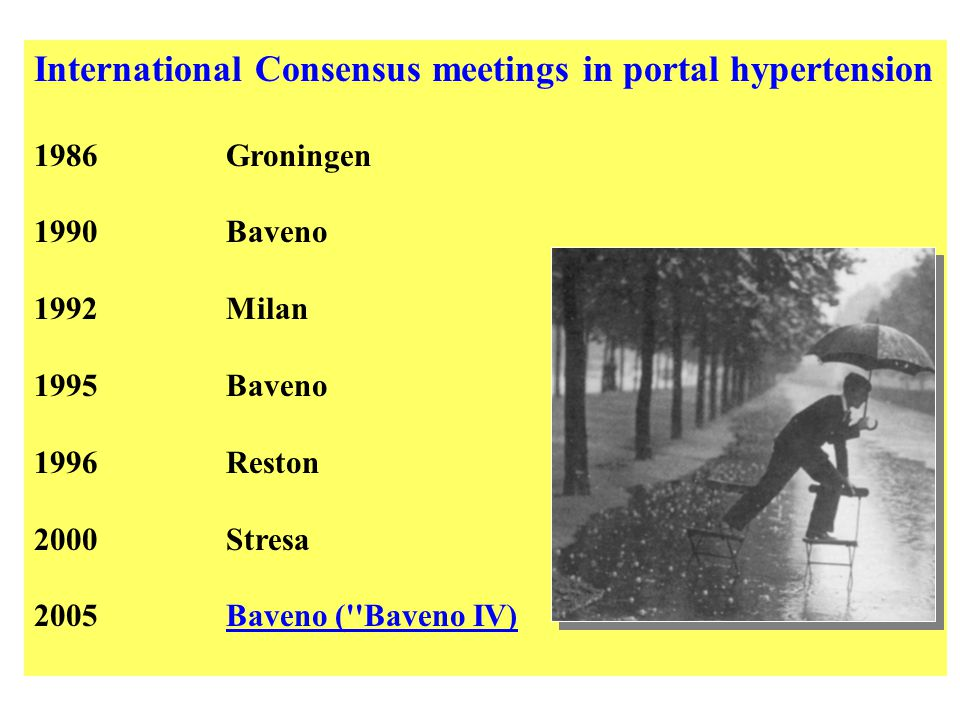 International Consensus meetings in portal hypertension