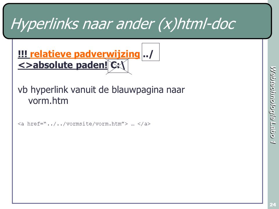 Hyperlinks naar ander (x)html-doc