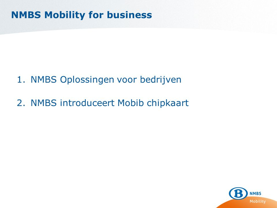 NMBS Mobility for business
