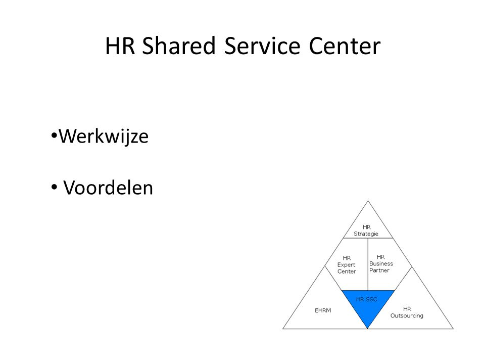 HR Shared Service Center