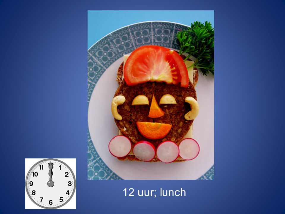 12 uur; lunch