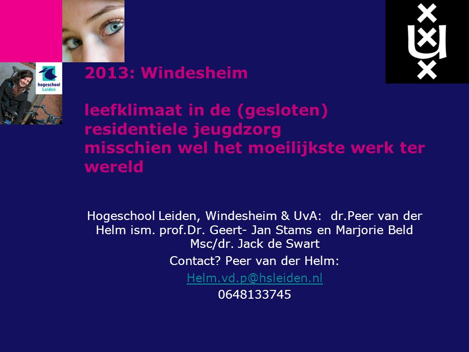 Contact Peer van der Helm: