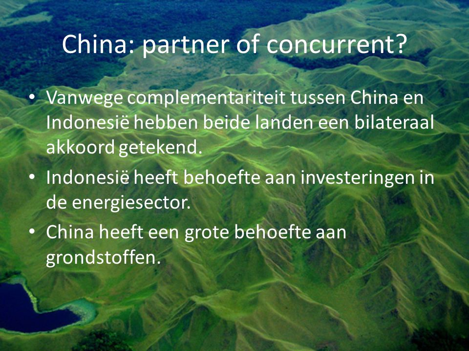 China: partner of concurrent