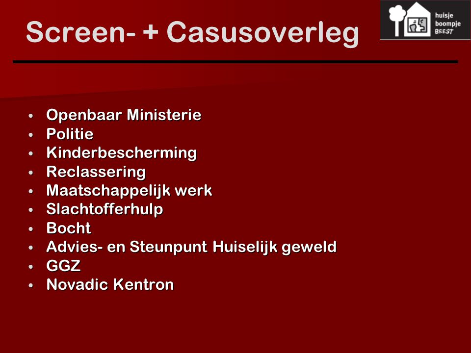 Screen- + Casusoverleg