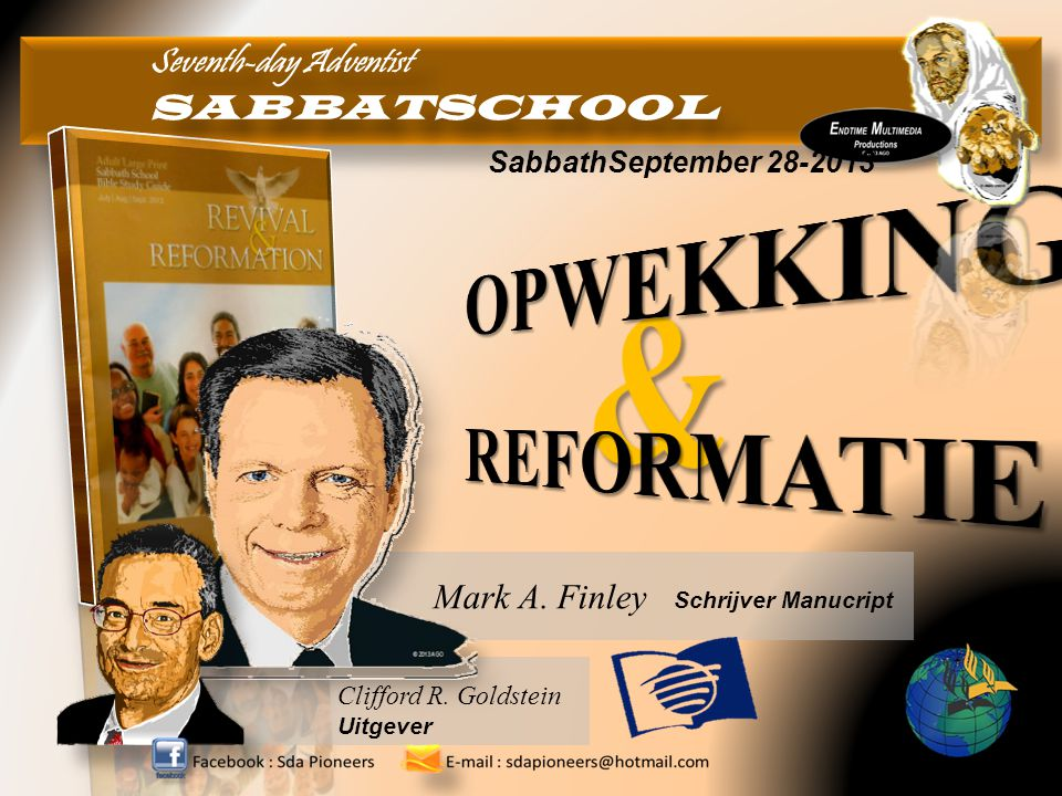 & OPWEKKING REFORMATIE Seventh-day Adventist SABBATSCHOOL