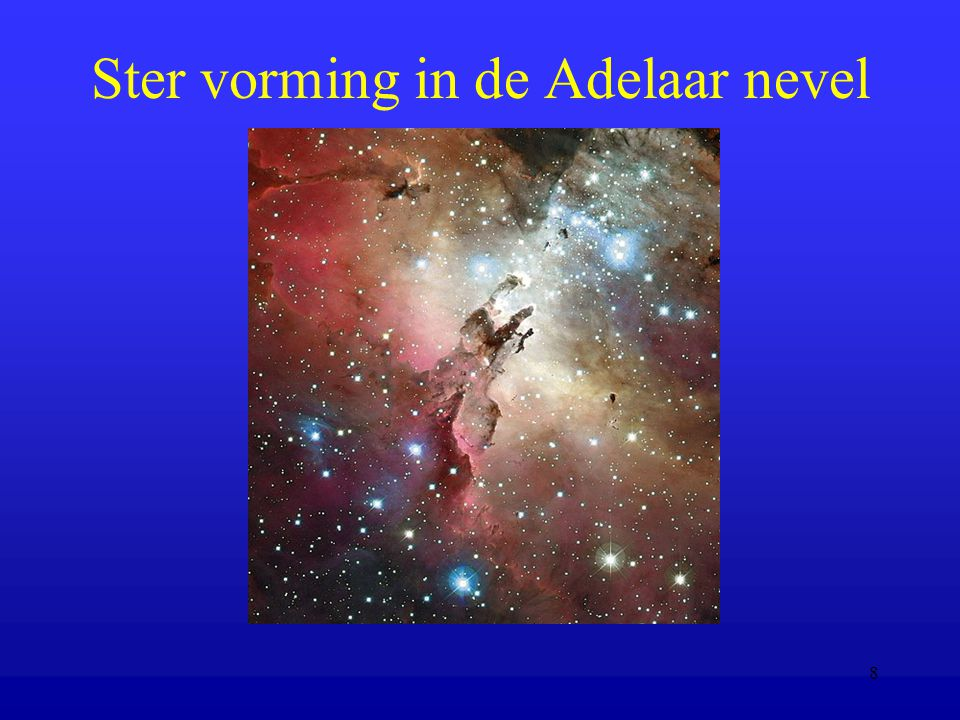 Ster vorming in de Adelaar nevel
