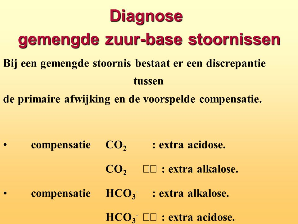Diagnose gemengde zuur-base stoornissen