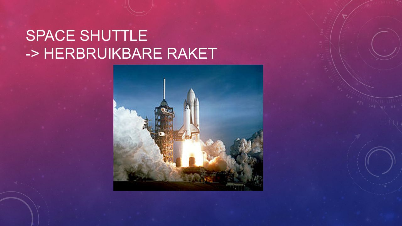 Space shuttle -> herbruikbare raket