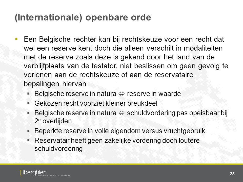 (Internationale) openbare orde