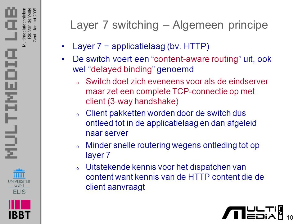 Layer 7 switching – Algemeen principe