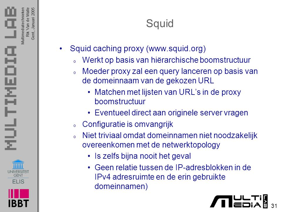 Squid Squid caching proxy (www.squid.org)