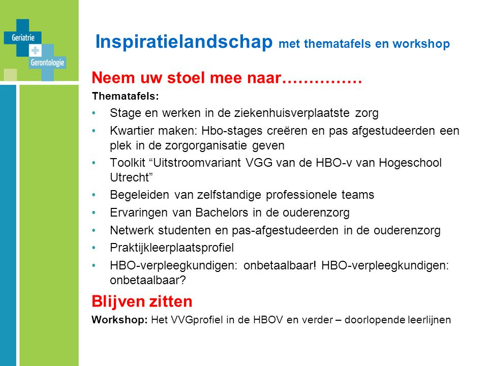 Inspiratielandschap met thematafels en workshop