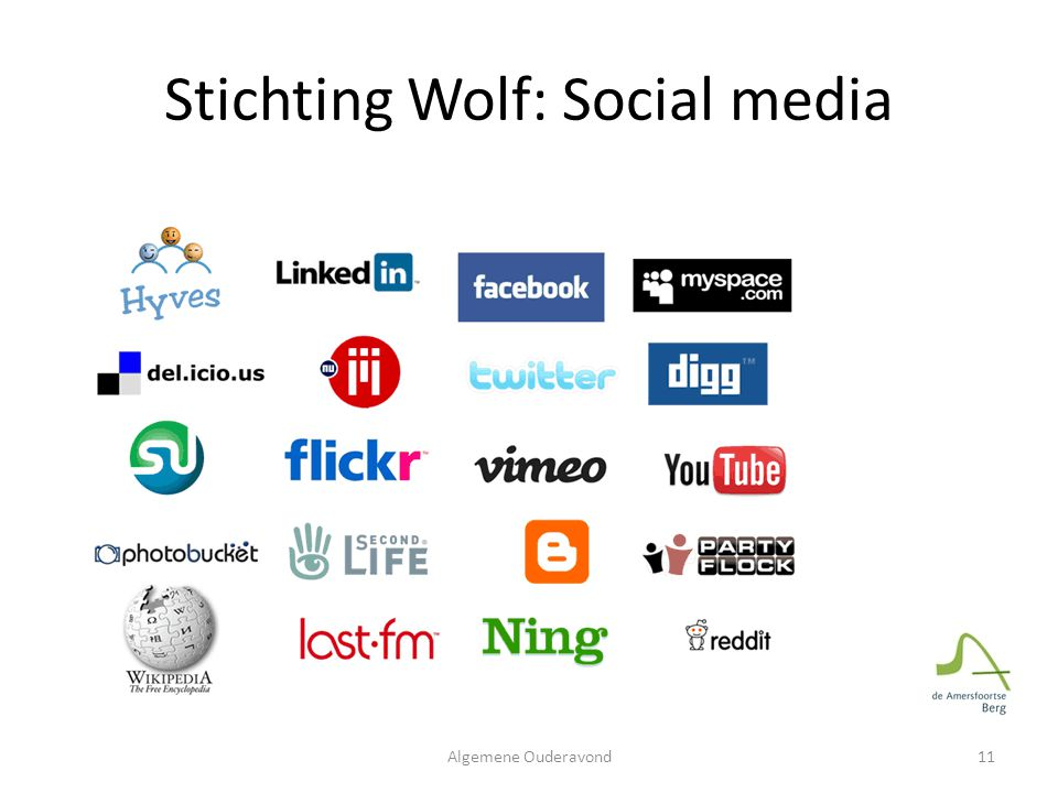 Stichting Wolf: Social media