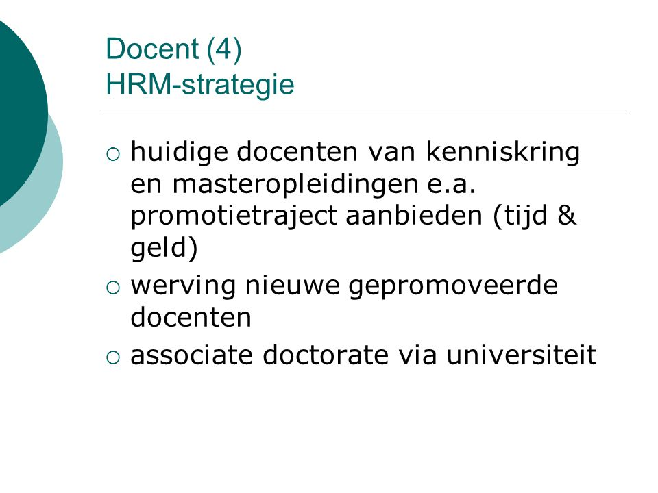 Docent (4) HRM-strategie