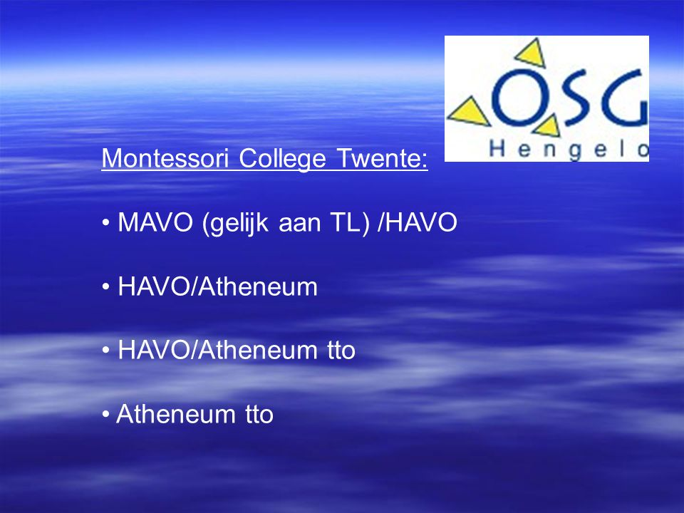 Montessori College Twente: