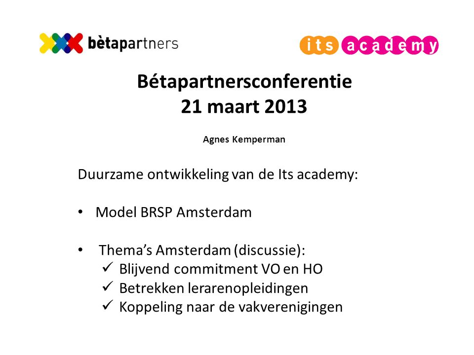Bétapartnersconferentie